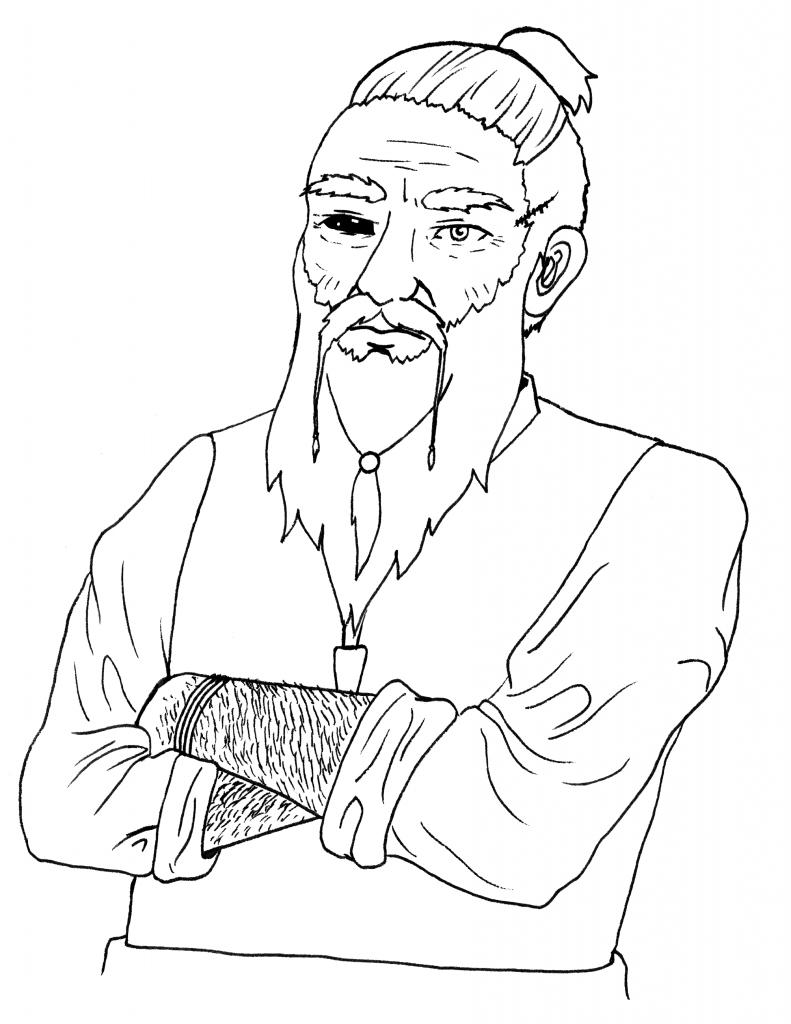 Grim, der zwergische Inhaber des Lachenden Drachen.